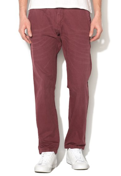 Big Star Pantaloni drepti regular fit Bordeaux stins Matthew 651