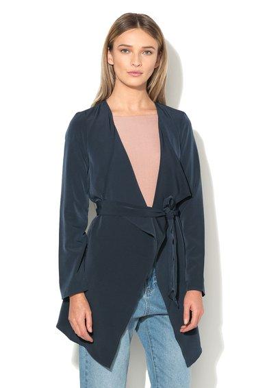 Vero Moda Sacou asimetric bleumarin cu cordon in talie Maggie