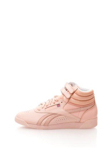 Reebok Tenisi mid-hi roz pal din piele si material textil Hi Spirit