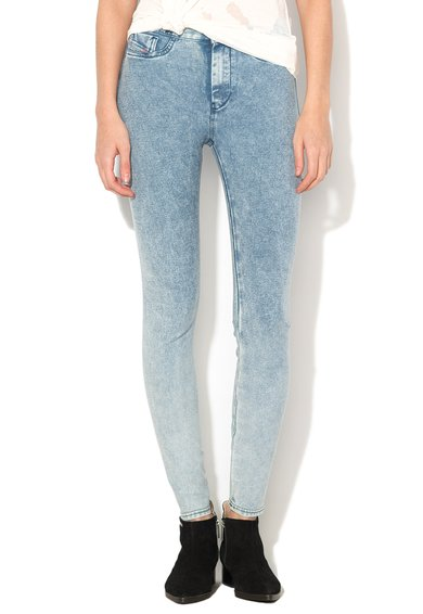 Jeggings albastru stins Flixee-Ankle