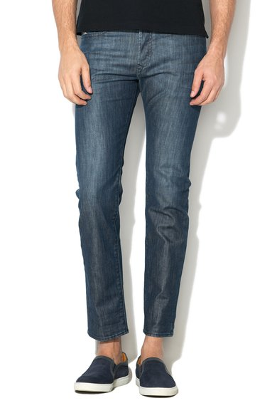 FashionDays.ro: Jeansi conici deteriorati albastru inchis Buster Diesel