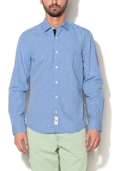 Napapijri Camasa albastru lavanda cu imprimeu discret Gons