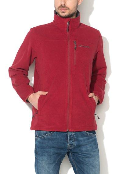 Bluza sport rosie de fleece Wind Protector™ de la Columbia
