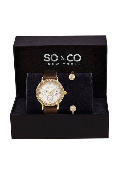 SOCO New York Set auriu cu ceas si bratara Madison
