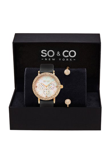 SOCO New York Set auriu rose cu ceas si bratara Madison