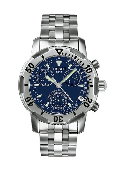 FashionDays.ro: Ceas cronograf argintiu cu cadran bleumarin Tissot