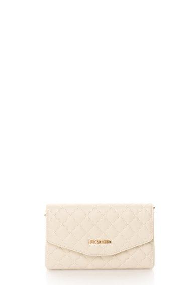 FashionDays.ro: Geanta mica alb fildes cu aspect matlasat Love Moschino