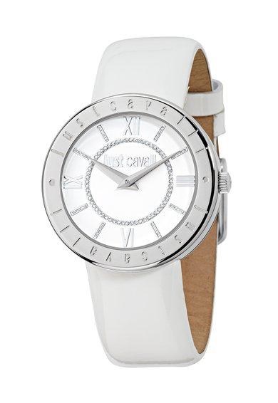 FashionDays.ro: Ceas alb cu argintiu Just Shiny Just Cavalli