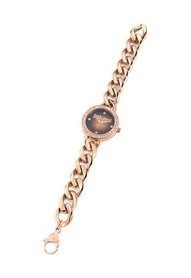 Ceas auriu rose cu bratara din lant J Chain de la Just Cavalli