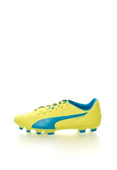 Pantofi sport galben neon cu bleu evoSPEED 4.4 de la Puma