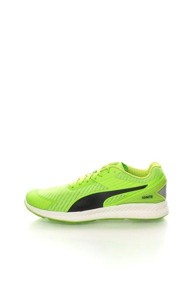 FashionDays.ro: Pantofi pentru alergare verde neon cu negru Ignite Puma