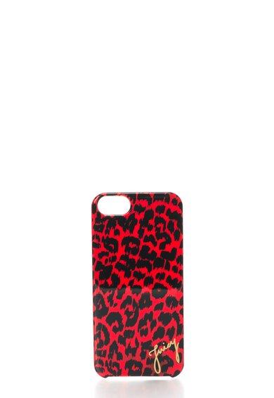 Carcasa pentru iPhone 5/5S rosie cu animal print