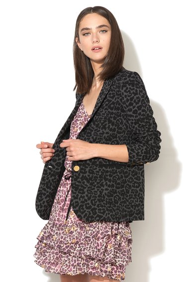 FashionDays.ro: Sacou negru si gri cu animal print Juicy Couture