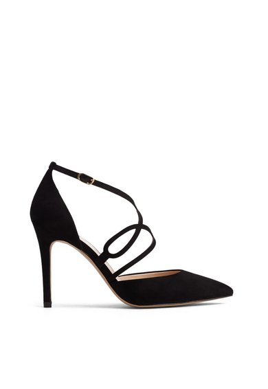 Pantofi D'Orsay negri Paty de la MANGO