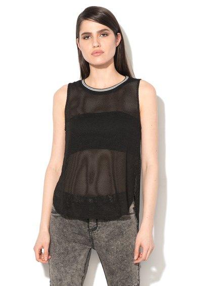 FashionDays.ro: Top negru de plasa Glamorous