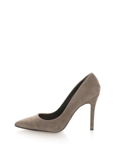 Pantofi stiletto gri de piele intoarsa Mathilde de la Versace 1969 Abbigliamento Sportivo