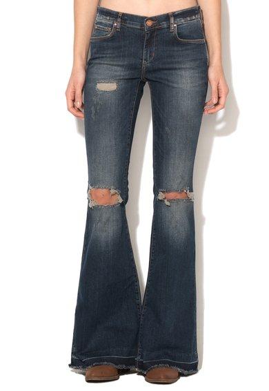 FashionDays.ro: Jeansi evazati albastru inchis deteriorati Valtornenche Silvian Heach Collection