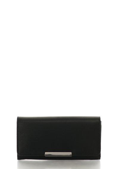 Portofel negru cu buzunar pe partea din spate