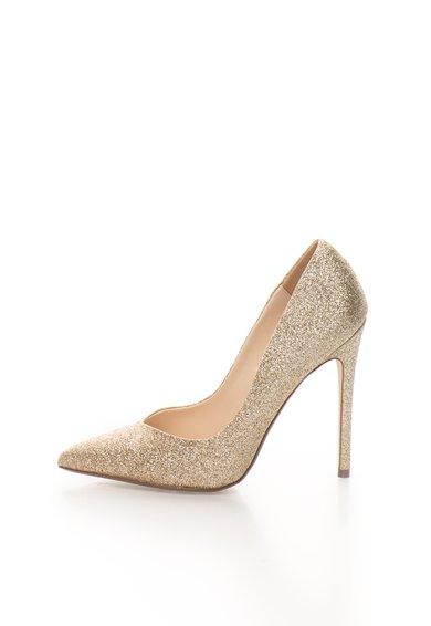 Pantofi stiletto aurii stralucitori Wicket de la Steve Madden