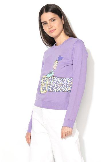 Bluza sport lila cu imprimeu de la Love Moschino