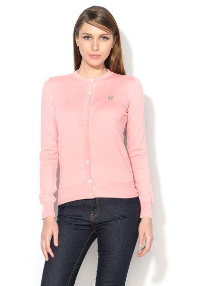 FashionDays.ro: Cardigan roz deschis din amestec cu matase Love Moschino