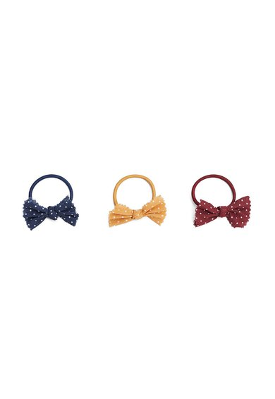 Set de elastice de par multicolore Bow- 3 piese de la MANGO
