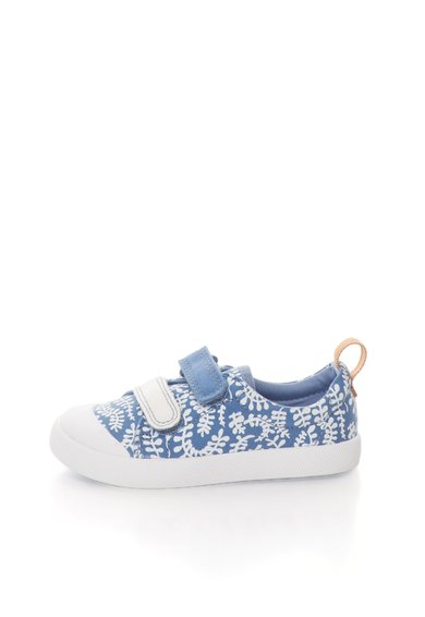 FashionDays.ro: Tenisi albastru lavanda si alb cu imprimeu vegetal Halcy Hat Clarks