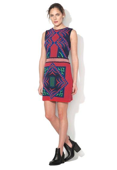 Rochie tricotata multicolora fara maneci Marias