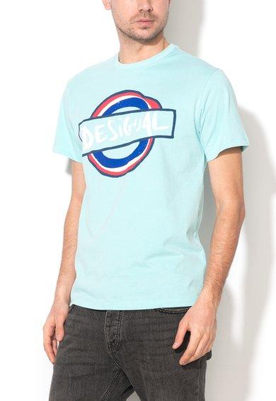 Desigual Tricou albastru aqua Elias