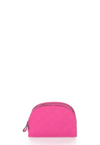 Geanta roz pentru cosmetice cu logo