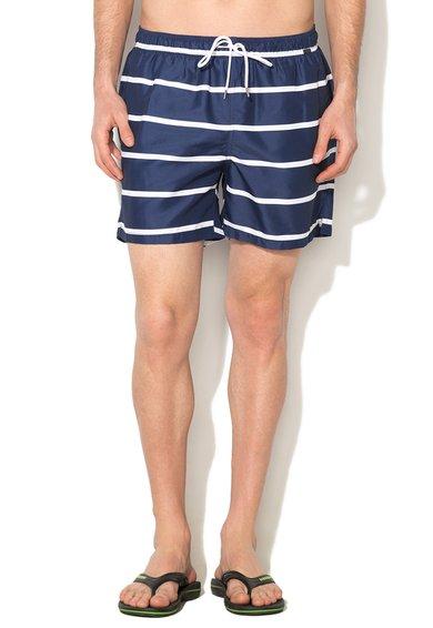 Pantaloni scurti de baie bleumarin cu alb in dungi St. Tropez de la Skiny