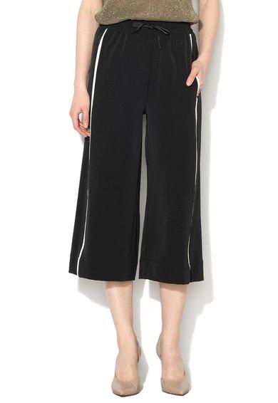 FashionDays.ro: Pantaloni culotte negri cu design sport Sisley