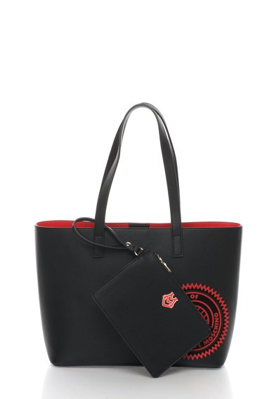 FashionDays.ro: Geanta shopper neagra cu portofel detasabil Love Moschino