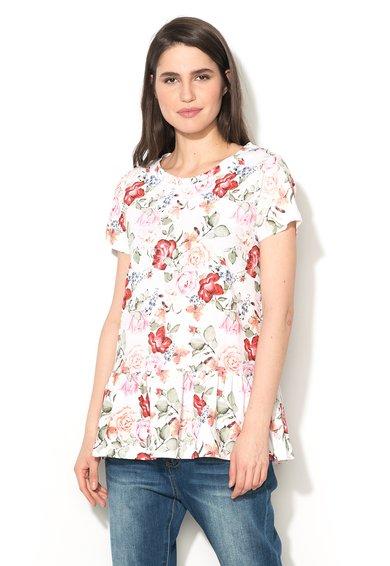 Silvian Heach Collection Tricou multicolor cu imprimeu floral si croiala lejera Kapos
