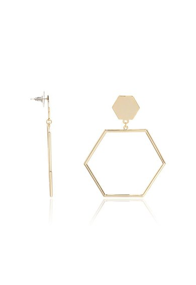 M by Maiocci Cercei hexagonali aurii