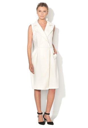 Rochie alb unt texturata infasurabila