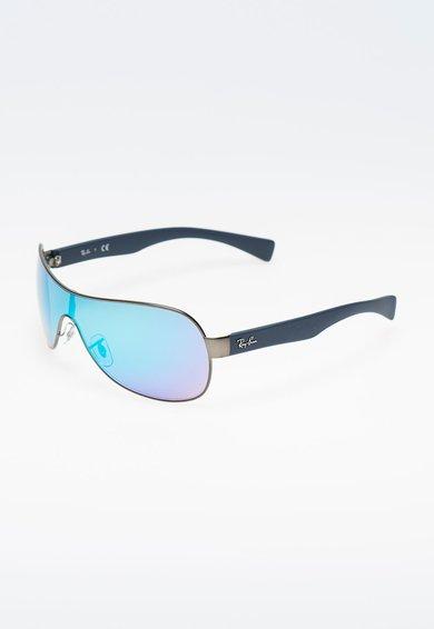 Ochelari de soare albastri cu lentile oglinda de la Ray-Ban