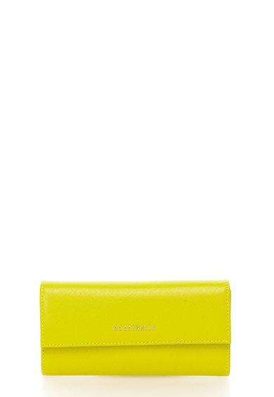 FashionDays.ro: Portofel verde chartreuse de piele saffiano COCCINELLE