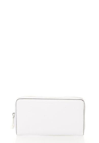 FashionDays.ro: Portofel alb de piele cu fermoar COCCINELLE