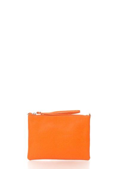 FashionDays.ro: Geanta plic oranj de piele cu bareta COCCINELLE