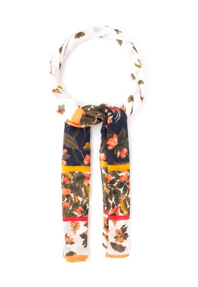 Esarfa multicolora cu model floral de la Pepe Jeans London