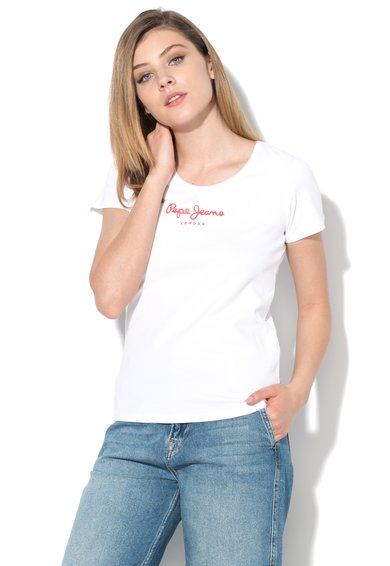 Pepe Jeans London Tricou alb New Virginia Femei image_1