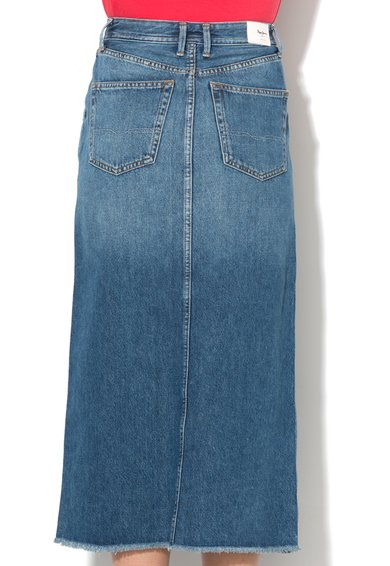 Pepe Jeans London Fusta lunga regular fit albastru inchis din denim Pippa Femei image_5