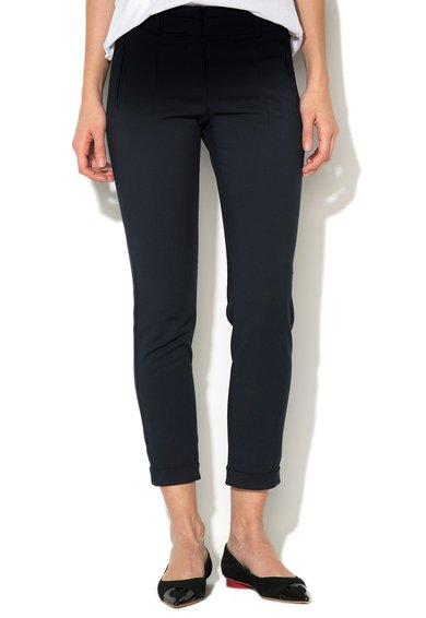 Stefanel Pantaloni elastici bleumarin cu mansete pliabile
