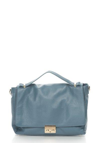 FashionDays.ro: Geanta albastru cenusiu de piele Zee Lane Collection