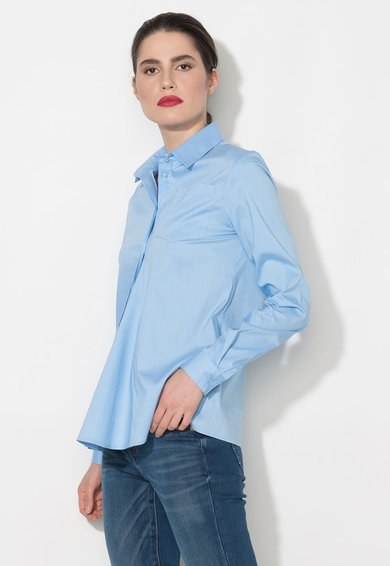 FashionDays.ro: Camasa albastra cu buzunar pe piept Zee Lane Denim