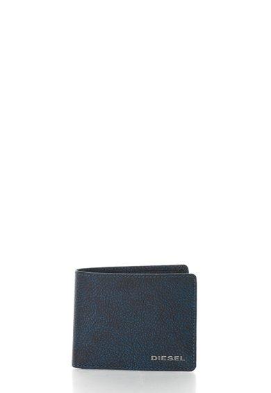 FashionDays.ro: Portofel pliabil negru cu albastru de piele Neela Diesel