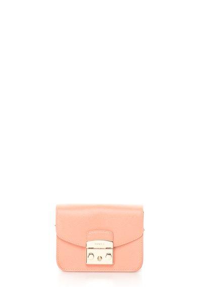 FashionDays.ro: Geanta mica roz somon de piele Metropolis Furla
