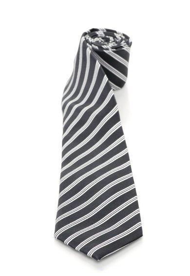 FashionDays.ro: Cravata gri inchis cu alb de matase in dungi Vincenzo Boretti