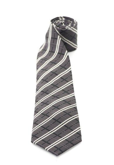 FashionDays.ro: Cravata in nuante de gri de matase in carouri Vincenzo Boretti